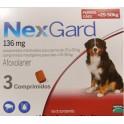 NEXGARD MASTICABLE 136 mg (25-50 Kg) 3 COMPRIMIDOS desparasitar perros