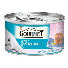 GOURMET DIAMANT Láminas Pastel Gelatina 24 x 85 g Varios Sabores Comida para Gatos