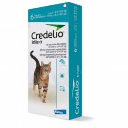 CREDELIO GATOS 48 mg 6 Comprimidos Antiparasitarios Gatos