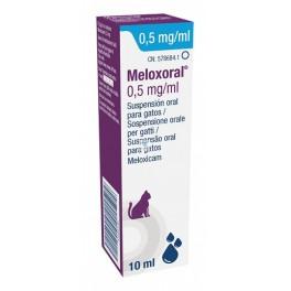 MELOXORAL GATOS 0´5 mg/ml oral 10 ml Antiinflamatorio AINE para gatos