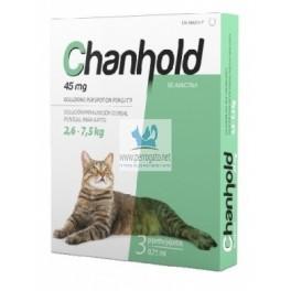 CHANHOLD 45 MG GATO GRANDE L 3 Pipetas Desparasitar gatos