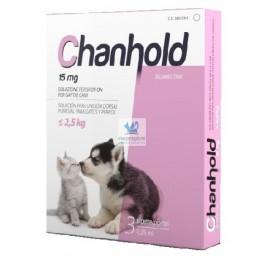 CHANHOLD 15 mg 3 Pipetas XS PERRO Y GATO PEQUEÑOS Antiparasitario externo e interno