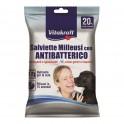 TOALLITAS ANTIBACTERIAS VITAKRAFT MULTIUSOS 20 Unidades Higiene de perros y Gatos