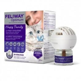 FELIWAY OPTIMUN DIFUSOR + RECAMBIO 48 ml Feromona Facial Felina
