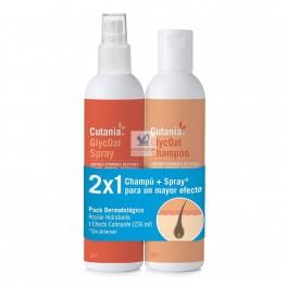 CUTANIA PACK GLYCOAT SPRAY+CHAMPU (236 +236 ml)