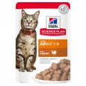 Hills Feline ADULT BOCADITOS SALSA 12 BOLSAS 85 g Comida para Gatos