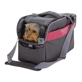 BOLSO DE VIAJE NEGRO ROJO 44x20x27 cm Transporte para perros
