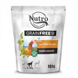 NUTRO GRAIN FREE ADULT MEDIUM POLLO 10 Kg Pienso para Perros