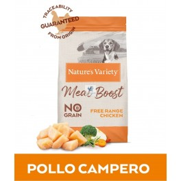 Natures Variety Selected Meat Boost Grain Free Chicken 10 Kg Pienso para Perros