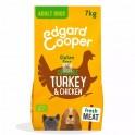 Edgard & Cooper sin gluten Adult pavo-pollo ecológicos y frescos 7 Kg Pienso para Perros