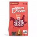 Edgard & Cooper sin cereal Senior pollo-salmón frescos 12 Kg Pienso para Perros