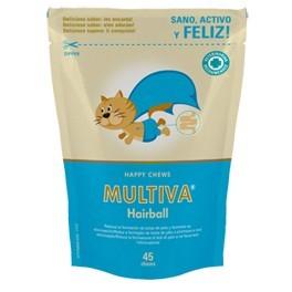 MULTIVA HAIRBALL 45 CHEWS Complemento Dermatológico y Laxante para bolas de pelo en Gatos