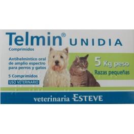 TELMIN UNIDIA 5 Kg 5 Comprimidos desparasitar perros y gatos