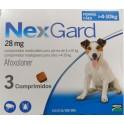 NEXGARD MASTICABLE 28 mg (4-10 Kg) 3 COMPRIMIDOS desparasitar perros