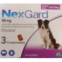 NEXGARD MASTICABLE 68 mg (10-25 Kg) 3 COMPRIMIDOS desparasitar perros