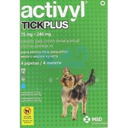 ACTIVYL TICK PLUS 4 Pipetas para Perros