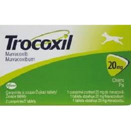 TROCOXIL 20 mg 2 Comprimidos Antiinflamatorio para perros