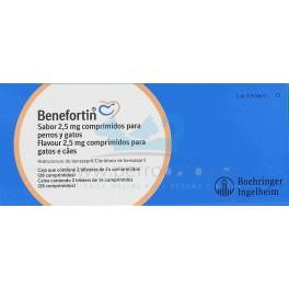 BENEFORTIN SABOR 2.5 mg Insuficiencia Cardiaca Comprimidos para perros y gatos