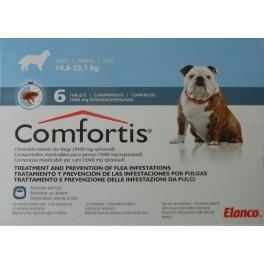 COMFORTIS 14´8-23´1 Kg 1040 mg 6 Comprimidos pulgas en perros