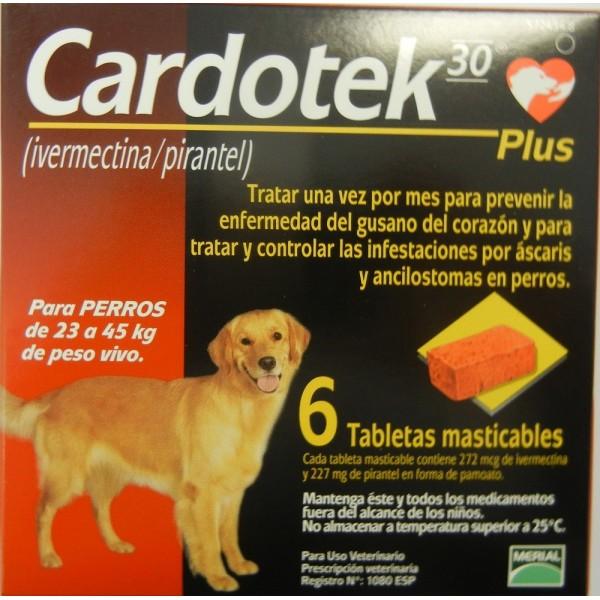 cardotek 30 plus  CARDOTEK-30 PLUS 272 MCgr MARRON (23-45 Kg) desparasitar perros