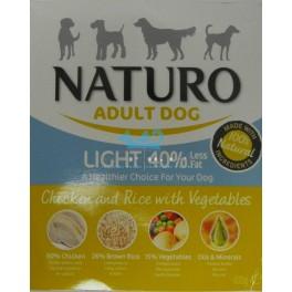 NATURO ADULT LIGHT DOG  Pollo y Arroz Tarrina 400 gramos