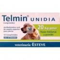 TELMIN UNIDIA 20 Kg 10 Comprimidos desparasitar perros