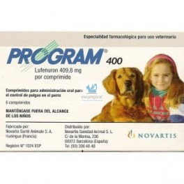 Program PERROS 400 6 Comprimidos (20-40 Kg) desparasitar perros