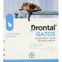 DRONTAL GATOS ELIPSOIDE Comprimidos desparasitar gatos