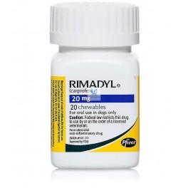 RIMADYL MASTICABLE 20 mg Comprimidos Antiinflamatorio para perros