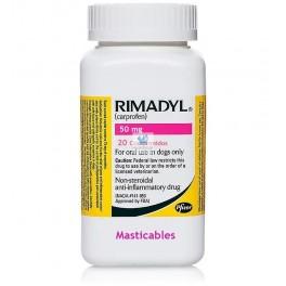 RIMADYL MASTICABLE 50 mg Comprimidos Antiinflamatorio para perros