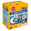 DENTASTIX Caja 4 Bolsas de 7 Barritas Snack Dentas para Perros