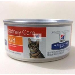 Hills Feline k/d 24x156 gr Pollo Comida para Gatos con Enfermedad Renal