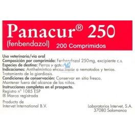 PANACUR 250 mg 200 Comprimidos desparasitar perros