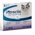 STRECTIS 3 Pipetas para Gatos Antiparasitario Externo