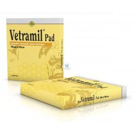VETRAMIL 10 x 10 cm 5 Pads Apósitos terapeuticos para Perros Gatos Caballos