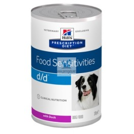 Hills Canine d/d ALLERGY&SKIN CARE PATO Y ARROZ 12x370 g pienso para perros
