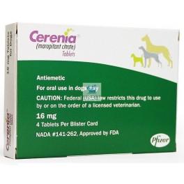 CERENIA 16 mg Antimareo Antiemético 4 Comprimidos para perros