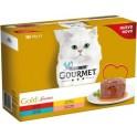 PURINA GOURMET GOLD FONDANT PACK POLLO Y BUEY 8 x (12 x 85 g) Comida para Gatos