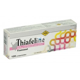 THIAFELINE 2.5 mg 120 Comprimidos Antitiroideos para Gatos